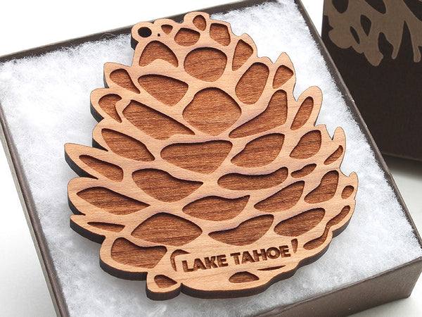 Lake Tahoe Pine Cone Ornament - Nestled Pines - 1