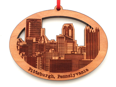 Pittsburgh Pennsylvania Skyline Ornament Oval