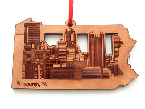 Pittsburgh Pennsylvania Skyline State Insert Ornament