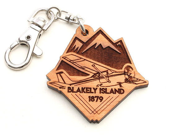 Blakely Island Cessna Airplane Key Chain