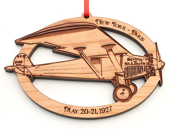 Charles Lindberg NHS The Spirit of Saint Louis Airplane Ornament