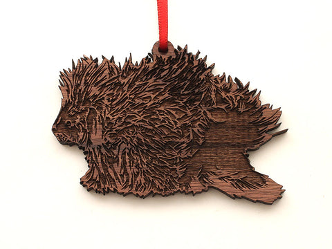 North American Porcupine Ornament
