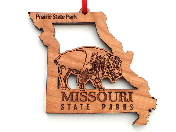 Missouri State Parks Bison Missouri State Insert Custom Ornament