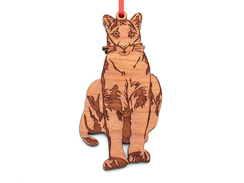 Tiger Creek Mountain Lion Ornament - Nestled Pines