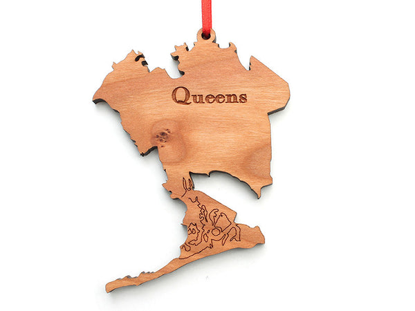 Queens NYC Borough Ornament - Nestled Pines