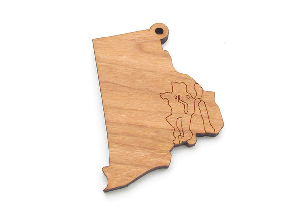Rhode Island State Ornament - Nestled Pines