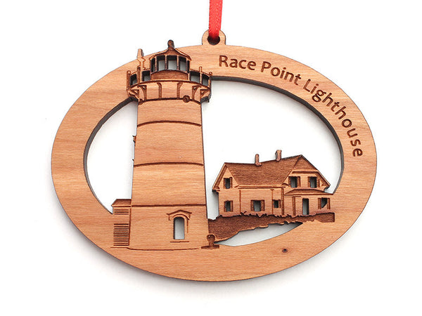 Cape Cod Race Point Lighthouse Ornament - Nestled Pines