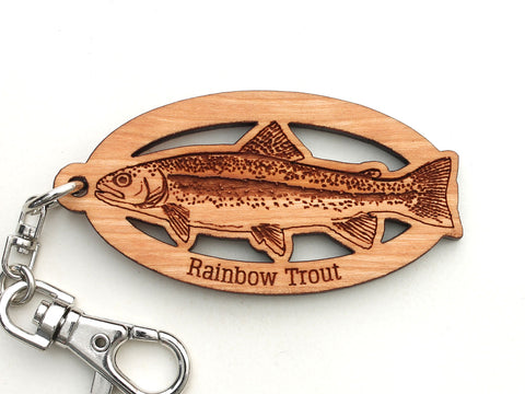 Rainbow Trout Key Chain Clip