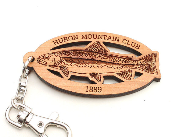Huron Mountain Rainbow Trout Key Chain