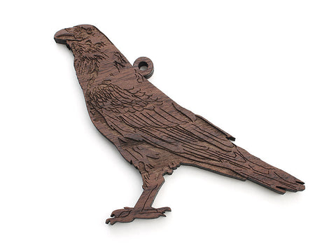 Raven Ornament - Nestled Pines