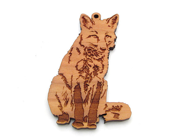 Red Fox Sitting Ornament - Nestled Pines