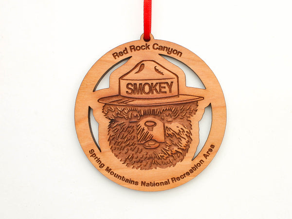 Red Rock Canyon Smokey The Bear Ornament