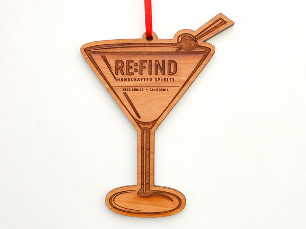 RE:FIND Martini Glass Ornament