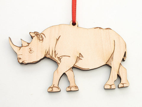 Black Rhinoceros Ornament - Nestled Pines
