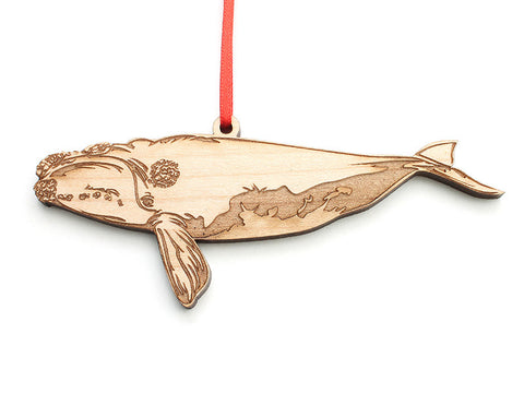 Right Whale Ornament - Nestled Pines
