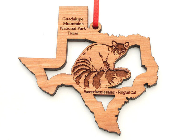 Guadalupe Mountains Texas State Ringtail Cat Insert Ornament