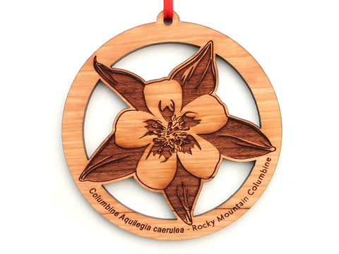 Rocky Mountain Columbine Flower (Columbine Aquilegia caerulea) Ornament