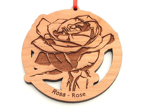 Rose Flower 2 Ornament