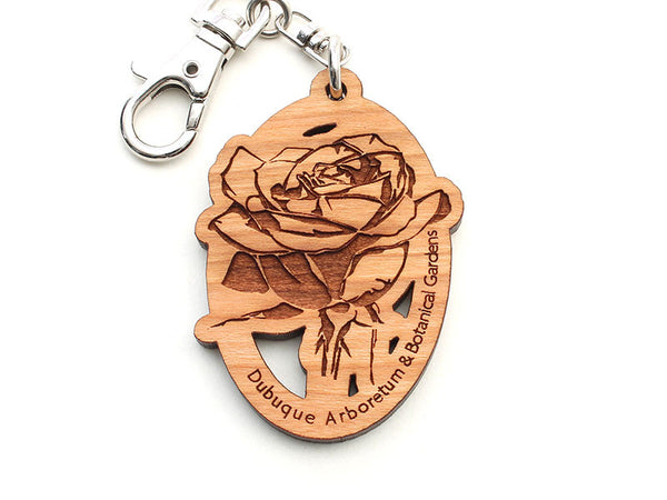 Dubuque Arboretum Rose Key Chain
