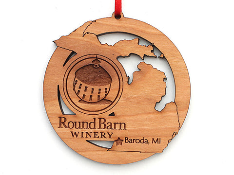 Round Barn Winery Michigan State Logo Ornament