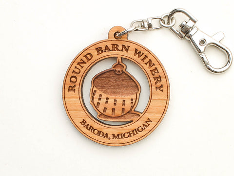 Round Barn Winery Logo Key Chain