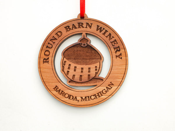 Round Barn Winery Logo Ornament