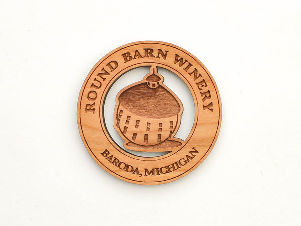Round Barn Winery Logo Magnet