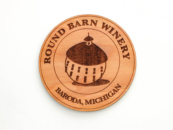 Round Barn Winery Logo Coaster Set of 4