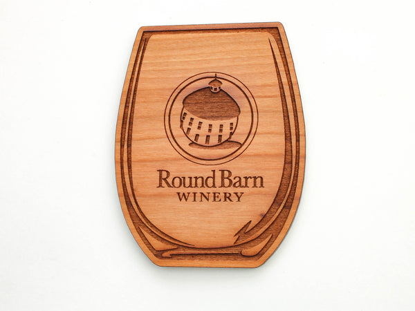 Round Barn Winery Wine Glass Coaster Set of 4