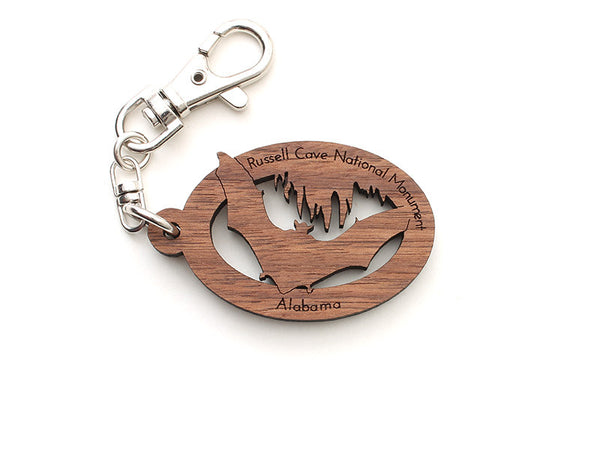 Russell Cave NM Bat Key Chain - Nestled Pines