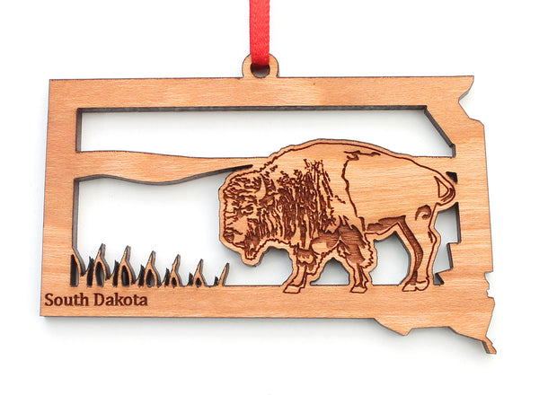 South Dakota State Bison Insert Ornament