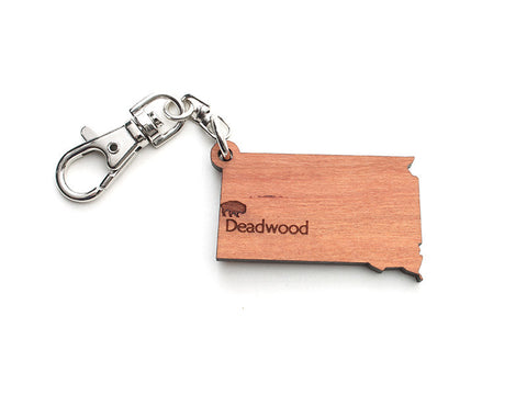 South Dakota State Key Chain - Nestled Pines
