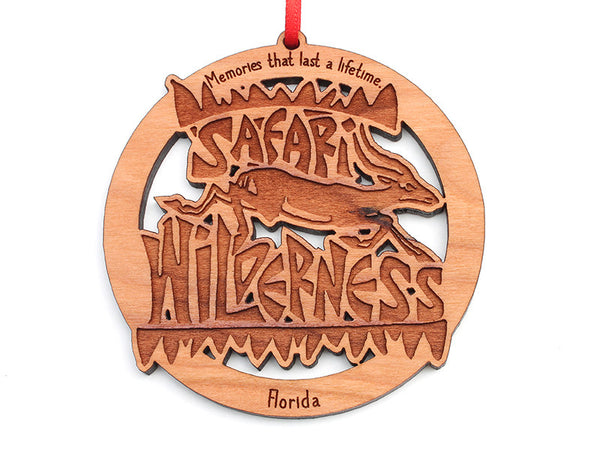 Safari Wilderness Custom Logo Ornament - Nestled Pines