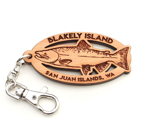 Blakely Island Salmon Key Chain