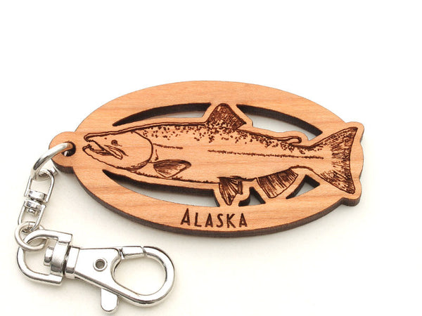 Alaska Salmon Key Chain