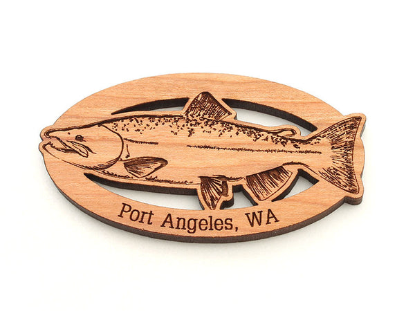 Port Book and News Salmon Magnet