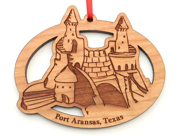 Lone Star Taste Sand Castle Oval Ornament