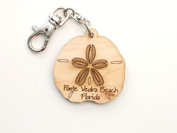 Ponte Vedra Beach Florida Sand Dollar Custom Key Chain - Nestled Pines