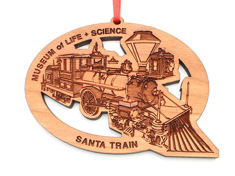 Museum of Life & Science Santa Train Custom Ornament