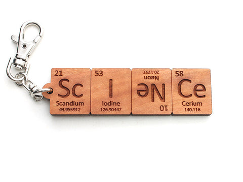 Science Periodic Table Element Key Chain - Nestled Pines