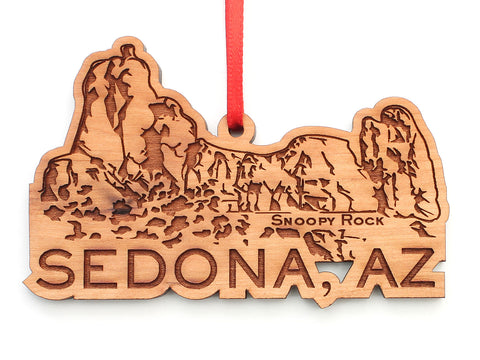 Sedona AZ Snoopy Rock Ornament