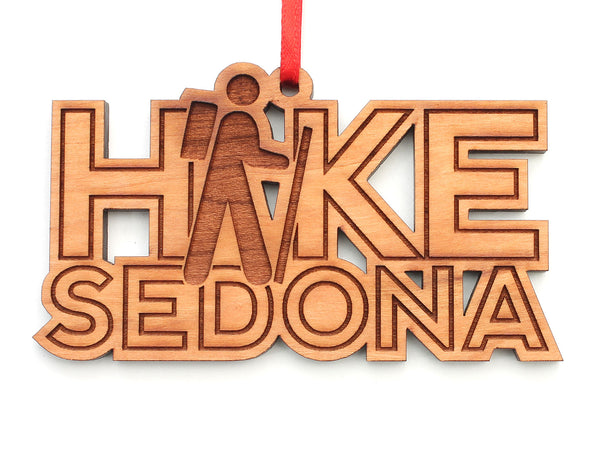 Hike Sedona Text Ornament
