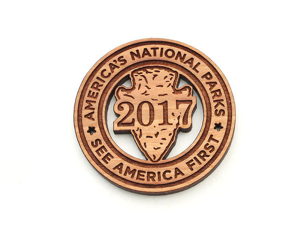 America's National Parks Arrowhead Circle Magnet