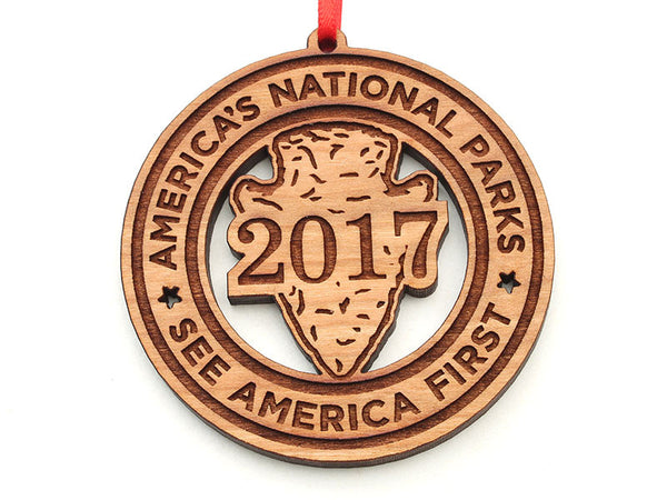 America's National Parks Arrowhead Circle Ornament