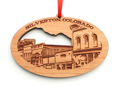 "Silverton, Colorado ""Skyline"" Ornament (revised) - Nestled Pines"