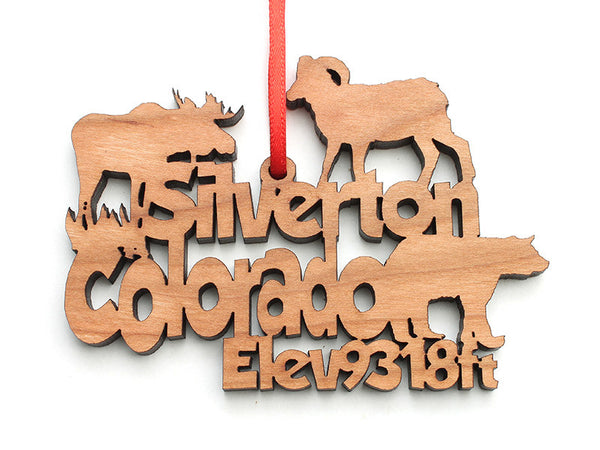 Silverton Text Ornament - Nestled Pines