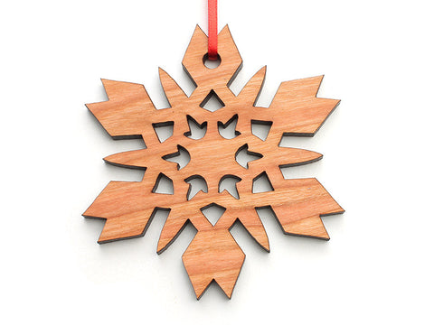 Simple Snowflake B Ornament - Nestled Pines