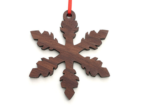 Simple Snowflake C Ornament - Nestled Pines