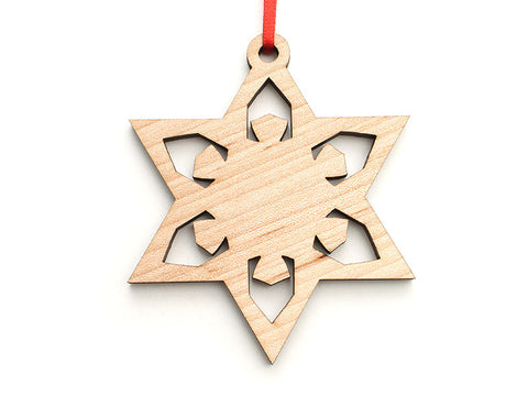 Simple Snowflake E Ornament - Nestled Pines