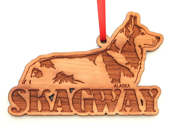 Skagway Alaska Husky Sled Dog Ornament